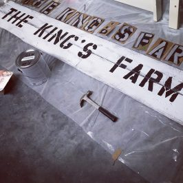 Our Farm Sign & Life Outside the Lines